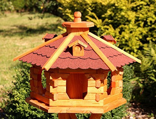 Großes Vogelhaus aus Holz Typ 5 (rot)