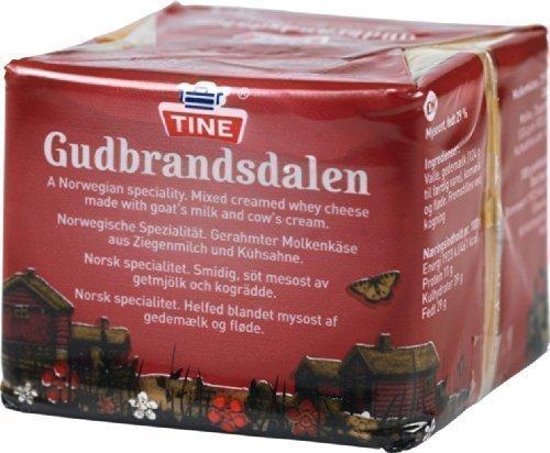 gudbrandsdalen Queso 250g Tine brunost gjetost - QUESO Noruego Marrón