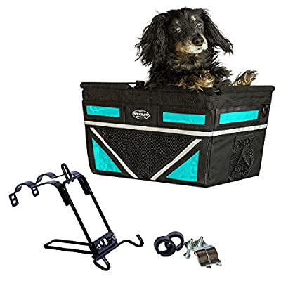 Travelin K9 Pet-Pilot MAX Dog Bicycle Basket Carrier | 8 Color Options for Your Bike (Turquoise) Product Name