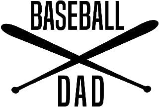 Creative Concepts Ideas Baseball Dad with Bats CCI Decal Vinyl Sticker|Cars Trucks Vans Walls Laptop|Black|5.6 x 3.8 in|CCI2329