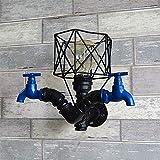 Lámpara industrial, Lámpara de pared de pájaro de pájaro de metal, lámpara de pared de hierro forjado retro europeo, luz de viento industrial, dormitorio de viento, decorativo, decorativo, escoce, lof