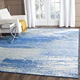 Safavieh Adirondack Collection ADR112F Modern Abstract Area Rug, 8' x 10', Silver / Blue