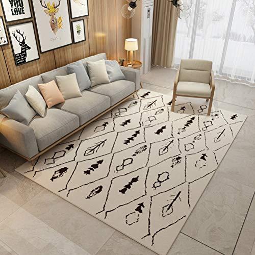RUG ZI LING Shop- Teppich Große Größe Wohnzimmer Matte Berber Fleece Schlafzimmer Teppich Tee Tablemat Rugscarpet Morden Stil Teppich (Farbe : B, größe : 140cmx200cm)