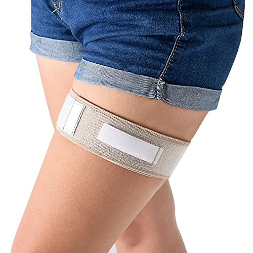 Finlon Befestigungsband zur Katheterfixierung am Bein, Halteband für Urinkatheterbeutel, mit Klettband, Harninkontinenzzubehör