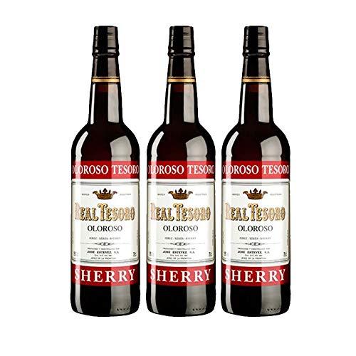 Vino Oloroso Tesoro de 75 cl - D.O. Jerez - Bodegas Grupo Estevez (Pack de 3 botellas)