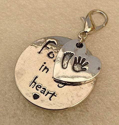 Baby loss(29) Necklace,clipon handbag charm or keyring memorial loss forever in my heart E292