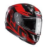 HJC RPHA 11 Carbon LOWIN MC1 - Casco de Moto (Talla L), Color Negro y Rojo