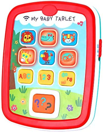 Infant Toys Baby Tablet Toys for 6 12 18 Month Old Boys and Girls with Music Learning ABC Numbers product image