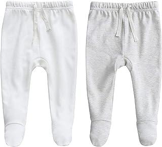 Owlivia 100% Organic Cotton Baby Boy Girl 2-Pack Wiggle Pant Jogging Pant