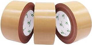 BOMEI PACK ガムテープ 布 茶色 布粘着テープ 50mmx25m 捆包テープ 布 3卷パック