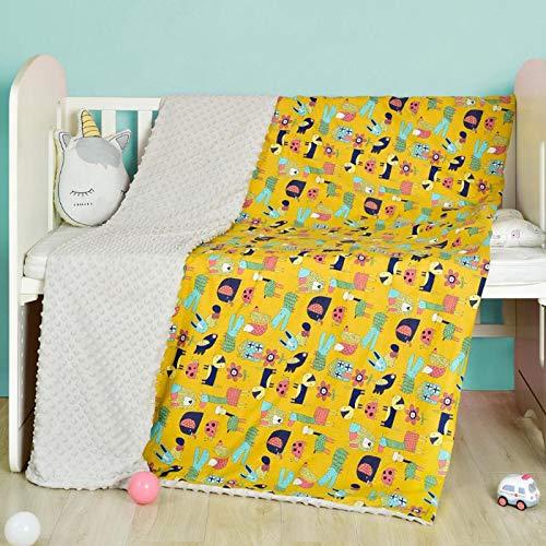 DNAEGH Muselina Algodón Swaddles Mantas para bebés Accesorios Ropa de Cama, para recién Nacidos Swaddle Toallas Mantas Manta para amamantar Manta YellowMagical