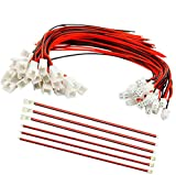 SamIdea 100Pieces 50-Pair Micro JST XH2.54 2PIN Male Female Connector Plug Extension Cable with Red Black Terminal Connector Wire Cable 150mm/5.9'(50xMale 50x Female)
