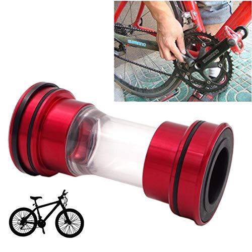 HQ's perfect store Équipement de vélo Alliage d'aluminium de Bas en Alliage d'aluminium, Support Acrylique est 86-92mm, approprié pour Shimano, vélo de Montagne. Sûr et Pratique (Couleur : Rouge)