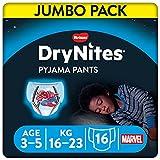 DryNites Calzoncillos absorbentes para Niño 3-5 años, 16-23 kg, 4 paquetes x 16 uds, 64 unidades