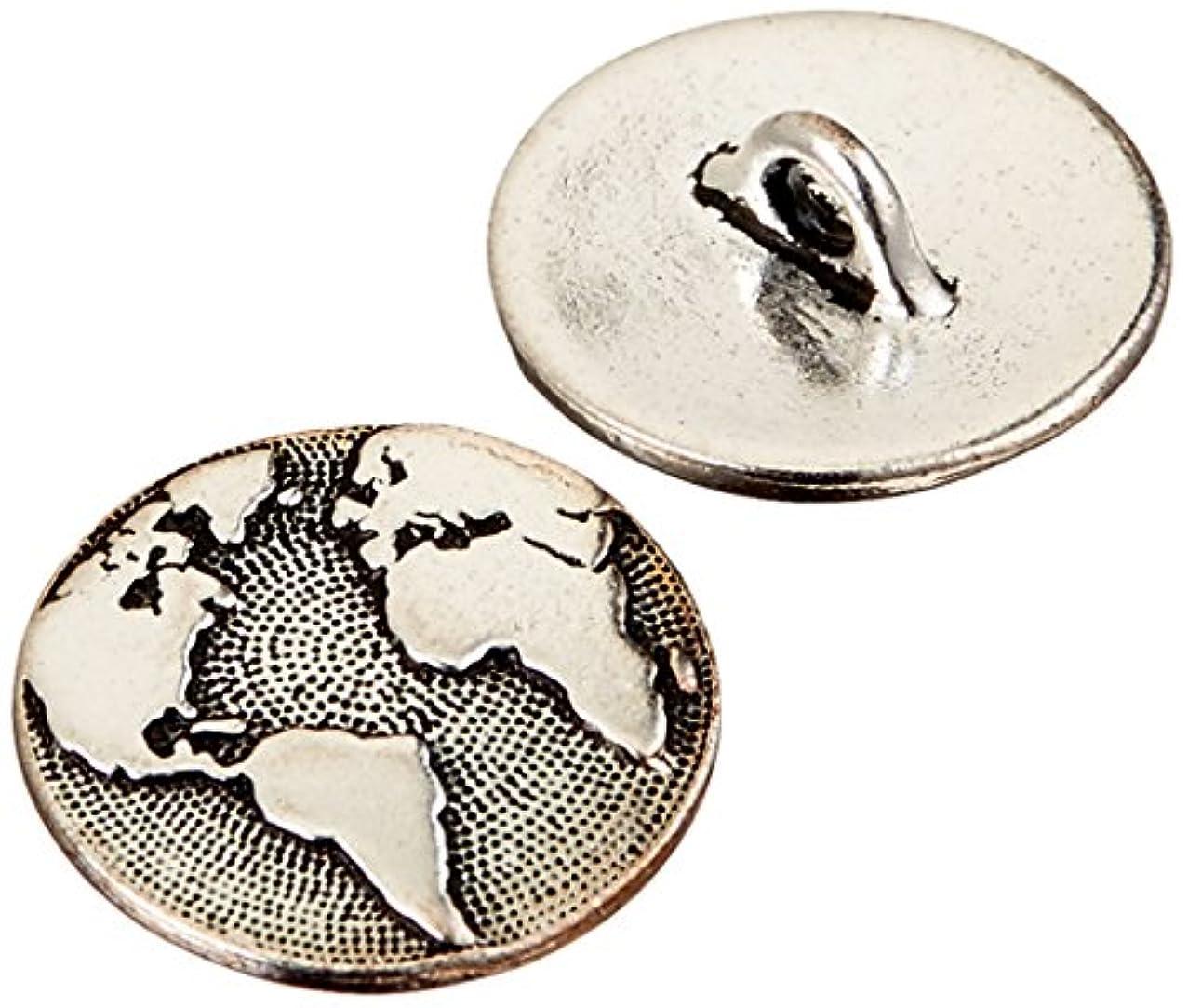 TierraCast Button Czech Flower Beads, 17mm, Antique Copper