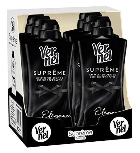 Vernel Supreme Nero Elegance Ammorbidente Concentrato Lavatrice Profumato, 6 Confezioni da 1.1 Litro