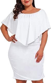 Best plus size white ruffle dress Reviews