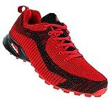Sandic Neon Turnschuhe Sneaker Sportschuhe Herren Boots 097, Schuhgröße:43, Farbe:Rot/Schwarz