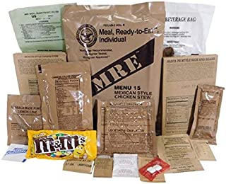 Genuine Military MRE Meal with Inspection Date September 2017 or Newer (Chicken Burrito Bowl)