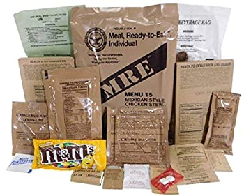 Genuine Military MRE Meal with Inspection Date September 2017 or Newer  Chicken Burrito Bowl