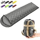 ECOOPRO Camping Sleeping Bag, 3 Season Sleeping Bag for Kids, Teens, Adults Indoor & Outdoor Use - Waterproof, Lightweight, Compact Sleeping Bag Great for Camping, Backpacking Hiking (F-Gray)
