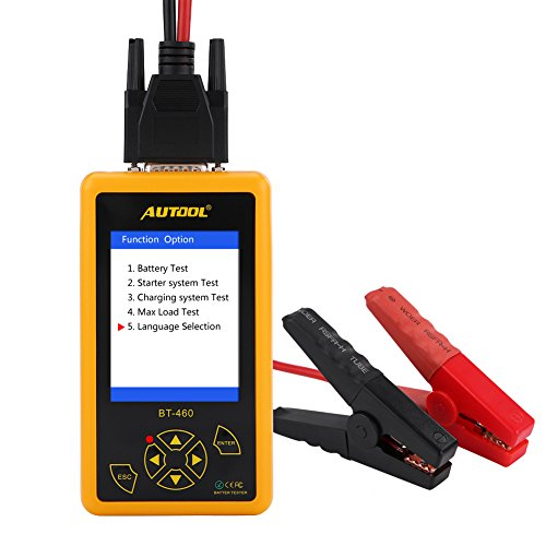 New 4 Inch Car Battery Tester,TFT Colorful Display Car Battery Tester Analyzer for 12V Vehicle 24V H...