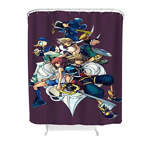 YxueSond Kingdom Hearts douchegordijn en met ringen polyester stof badkamer douchegordijn