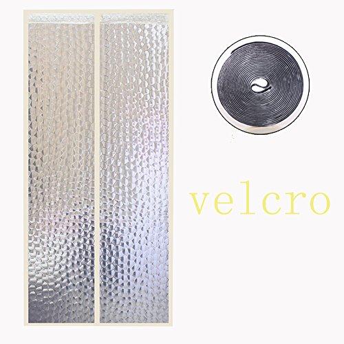 Magnetische klittenbanddeur op het scherm, muggennet maan deur zomer voor home slaapkamer keuken marktplaats hoog denisity buiten winddicht gesneden 100 x 230 cm (39 x 91 inch)