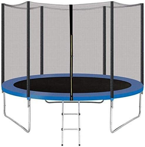YAOJIA Fitness Trampolines Trampoline 10FT 15FT for Kids with Safety Enclosure Net and Ladder, Round Outdoor Recreational Trampoline Backyard for Children Adults and Family (Color : Blue-10ft)