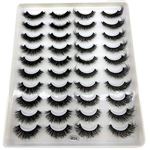 BRIEF 20 pairs natural false eyelashes fake lashes long makeup 3d mink eyelashes eyelash extension mink eyelashes for beauty,H36
