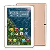 TOSCIDO 4G LTE Tablet PC 10 pollici Android 10.0, 4 GB RAM, 64 GB ROM, Octa Core, Dual SIM, WLAN, altoparlante stereo doppio, oro
