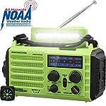AM/FM NOAA Weather Radio,Portable Solar Hand Crank Emergency Radio with 2000mAh Battery Power Bank,LED Camping…