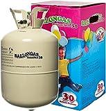 Unschlagbares Partyzubehör: HeliumStar® Helium Einwegflasche mit 250 Liter Ballongas für bis zu 30 Ballons - Heliumflasche mit Luftballongas ideal für Kindergeburtstag, Hochzeit etc. - Helium für Luftballons als Partyspaß!