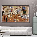SXXRZA Cuadro de Pared 50x70 cm sin Marco Picasso Famosos Carteles de reproducción Abstracta e Impresiones Cuadros habitación decoración del hogar Cuadro de Arte de Pared
