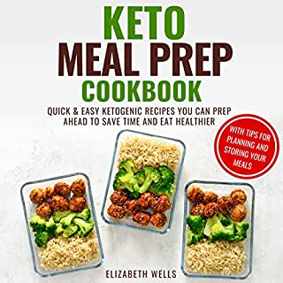 Keto Meal Prep Cookbook audiobook cover art