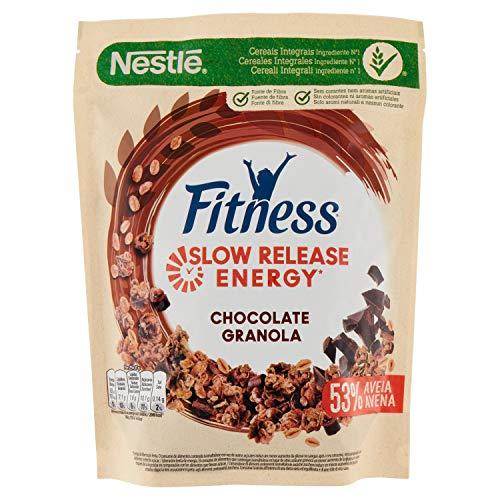 Nestlé Fitness Cereales Granola Copos de Avena Integral y Trigo con Miel, 300g