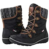 GLOBALWIN Women's 1841 Black/Brown Winter Snow Boots 6.5M