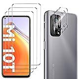 GESMA 3 Piezas Protector de Pantalla Compatible con Xiaomi Mi 10T / Xiaomi Mi 10T Pro, 3 Piezas Protector de Lente de Cámara, Cristal Templado de HD Anti-arañazos