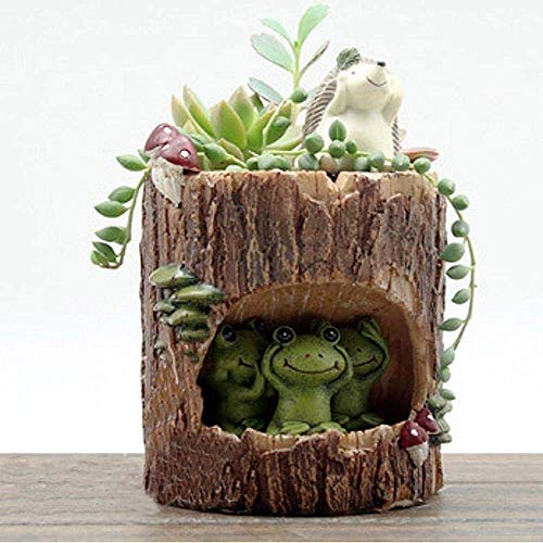 Uteruik Leuke Groene Kikker Bloem Sedum Succulente Pot Planter Bonsai Trough Box Plant Bed Bureau Home Tuin Pot Decor, 1 st