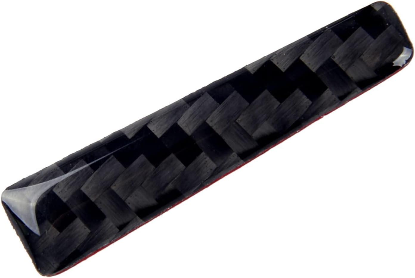 ZHUHUI free shipping YUYANGZHI 2Pcs Carbon Fiber OFFicial mail order Gear Shift Handle Decor Black