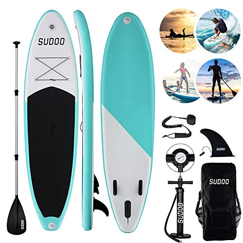 Triclicks Tabla Hinchable Paddle Surf/Sup Paddel Surf dacon Bomba, Mochila, Aleta Central Desprendible, Kit de Reparación, Remo Ajustable, La Cinta para Atar al Pie(300 * 75 * 15cm-Grosor)