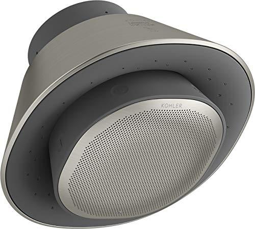 Moxie Bluetooth Showerhead, Shower Speaker, Waterproof Speaker, Shower Radio, Rechargeable Speaker, Portable Speaker, 1.75 GPM, , Vibrant Brushed Nickel - Kohler K-28238-GKE-BN