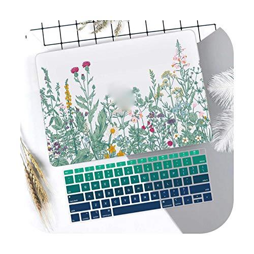 Leafs-Pro 13 A1708 Hard Shell Case for Macbook Air 13 11 Pro 13 15 Touch Bar 2020 A2251 A2289 Mac Book 12 15 Inches 2019 A1708 A2159 A2179 Green