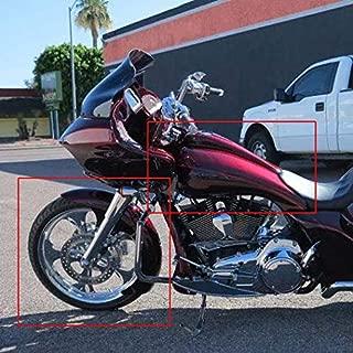 BBUT 6.6 Gallon Custom Stretched Gas Tank w/ 6.5 Wide 23 Wheel Front Fender for 2014-2019 Harley Davidson Touring Bagger Road King Road Glide Street Glide Electra Glide FLHT FLTR FLHX FLHR Models