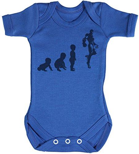 Baby Evolution to A Iron Man Body bébé - Gilet bébé - Body bébé Ensemble-Cadeau - Naissance Bleu