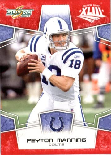 2008 Score Red SuperBowl Edition NFL Football Card only 2400 made 127 Peyton Manning QB Indianapolis product image