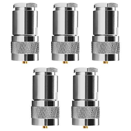 5 Stück PL259 Adapter Koaxial Kompressionszange Kabel kompatibel für 7D-FB RG213 RG214 LMR400