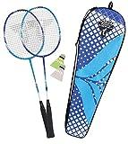 Talbot Torro Premium Badminton-Set 2-Fighter Pro, 2 Graphit-Composite Schläger, 2 Federbälle, in wertiger Tasche, 449404