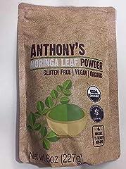 Organic Moringa Powder Batch Tested and Verified Gluten Free Product of India, Packed in USA USDA Certified Organic & Non-GMO Ingredient: Organic Moringa Leaves