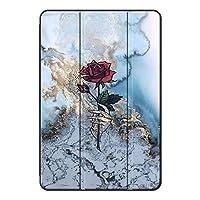 Fuleadture iPad Air 1/iPad Air タブレットケース,三つ折タイプ PUレザー&PC アンチダスト アンチドロップ 傷防止 三つ折りブラケット クリア バックカバー iPad Air 1/iPad Air Case-ad662